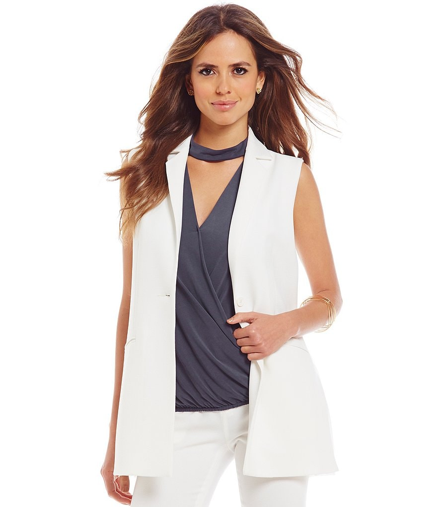 Gianni Bini Ashley Chiffon Back One Button Vest