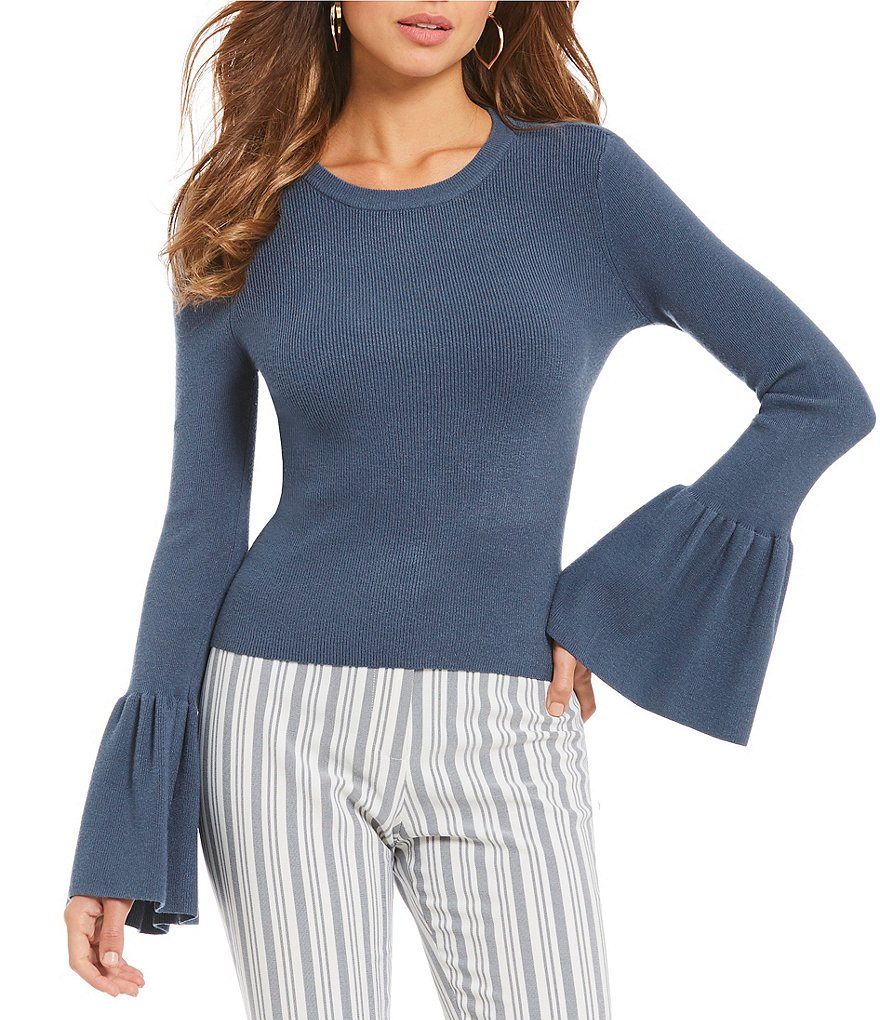 Gianni Bini Eve Bell Sleeve Knit Top