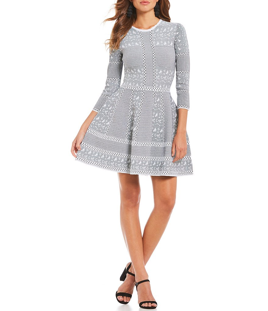 Gianni Bini Fan Fav Tracy Skater Sweater Dress