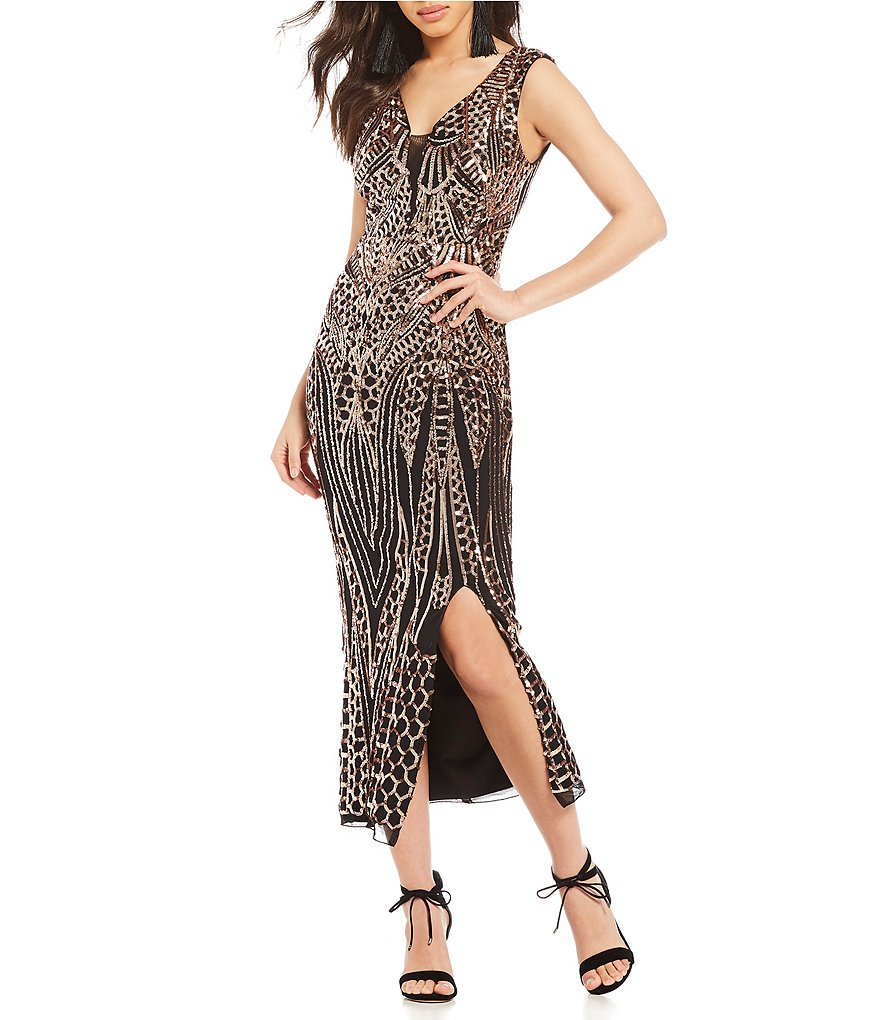 Gianni Bini Jackie Patterned Sequin Dress