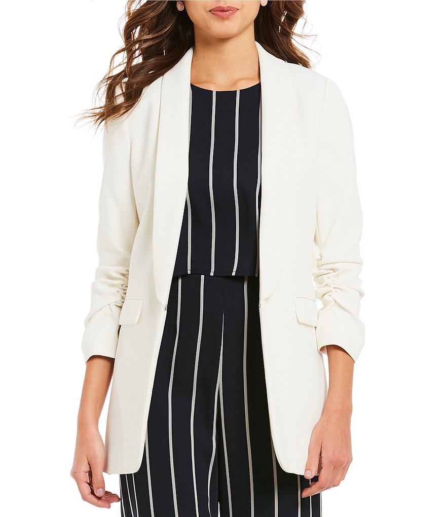 Gianni Bini Jemma Ruched Sleeve Jacket