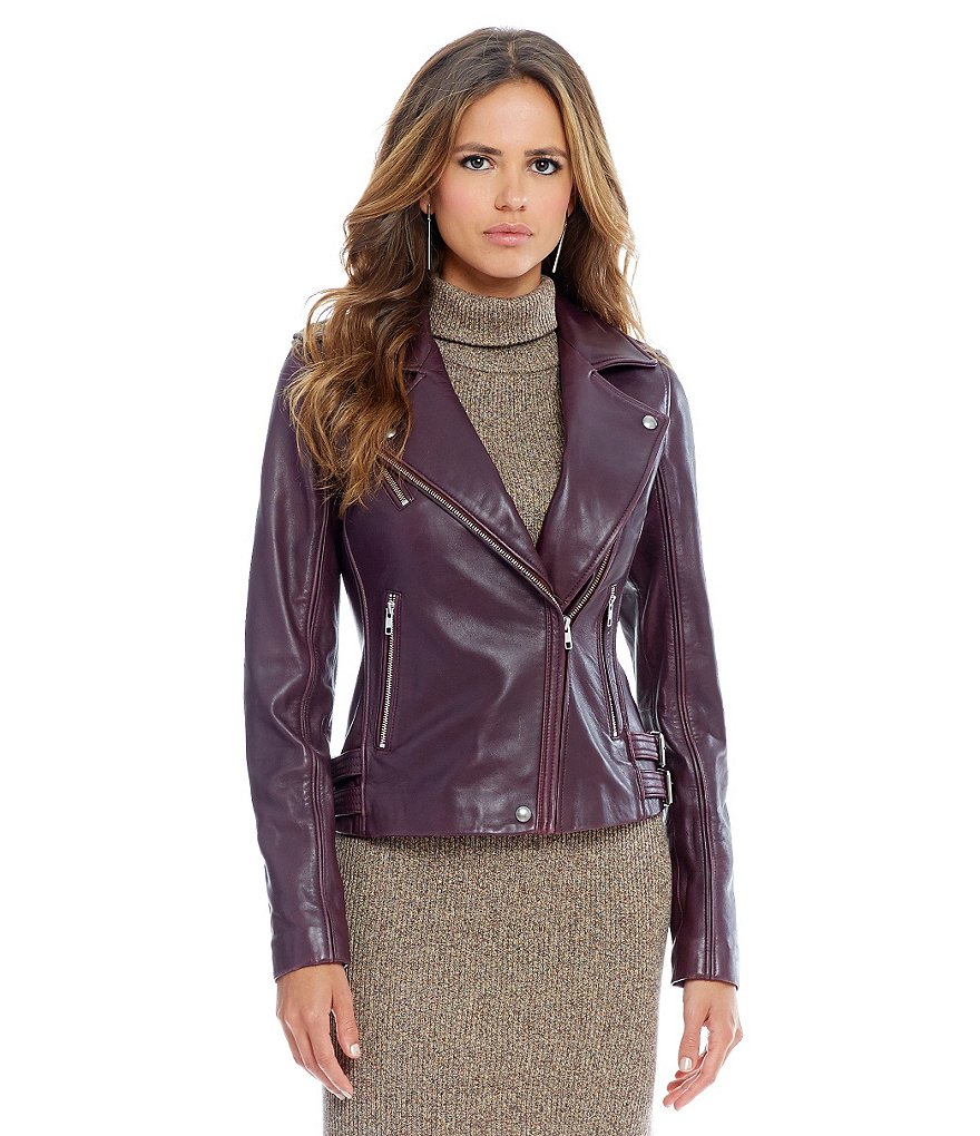 Gianni Bini Joey Leather Moto Jacket