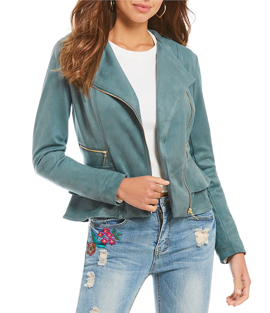 Gianni Bini Juliana Faux Suede Moto Jacket