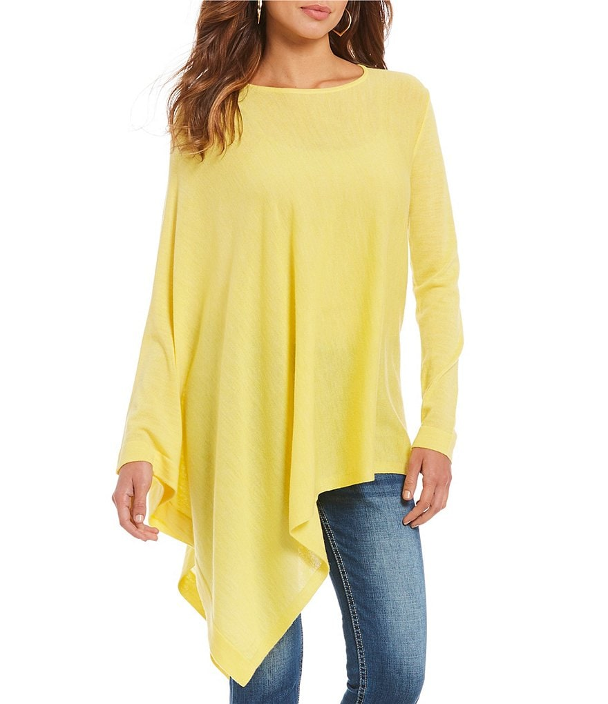 Gianni Bini Kendra Fan Fav Asymmetrical Poncho Sweater