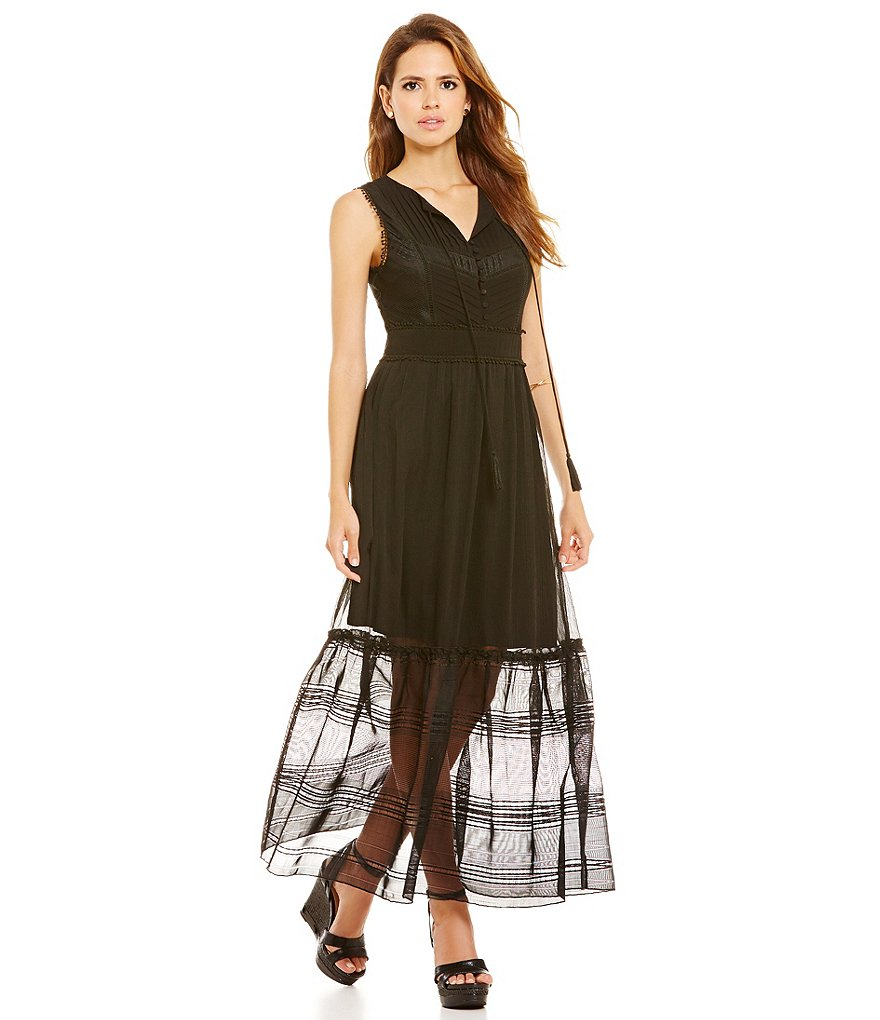Gianni Bini Madeline Ruffle Maxi Dress