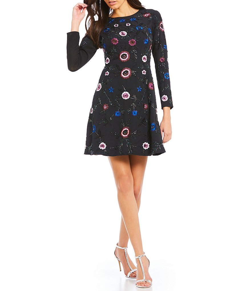 Gianni Bini Mindy Beaded and Embroidered Dress