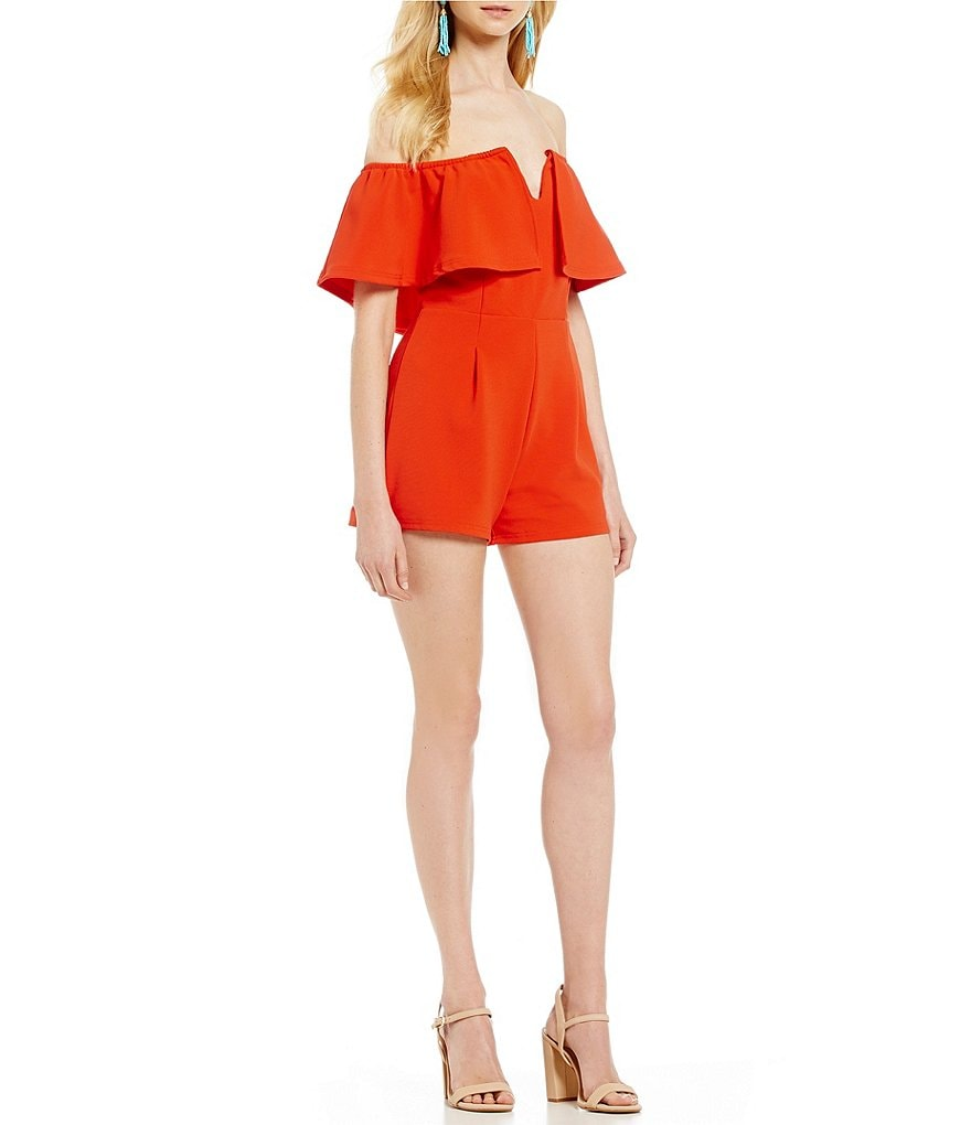 Gianni Bini Rosie Off The Shoulder Romper