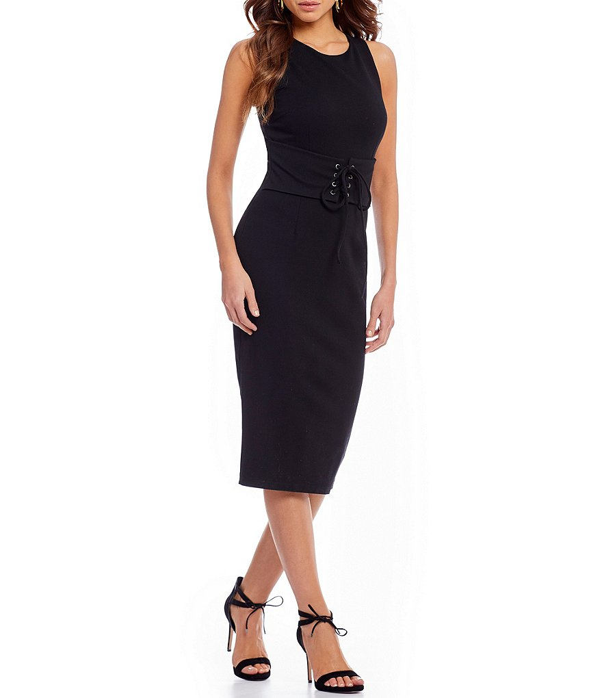 Gianni Bini Sherry Corset Midi Dress