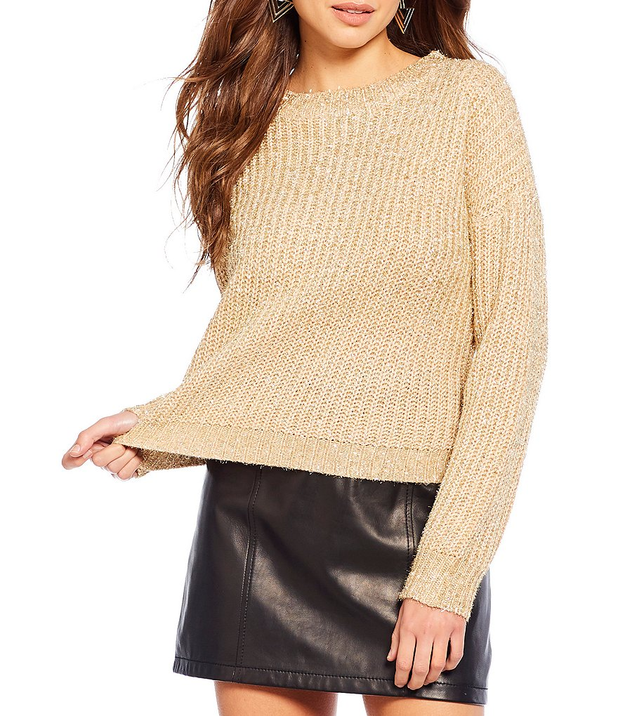 Gianni Bini Star Sparkle Eyelash Sweater