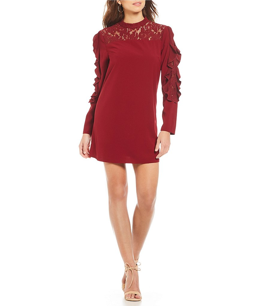 Gianni Bini Susan Lace Yoke Dress