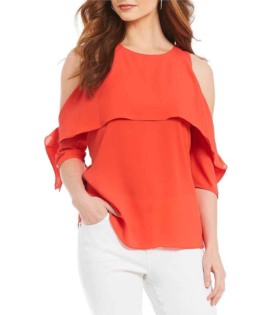 Gibson & Latimer Cold Shoulder Blouse