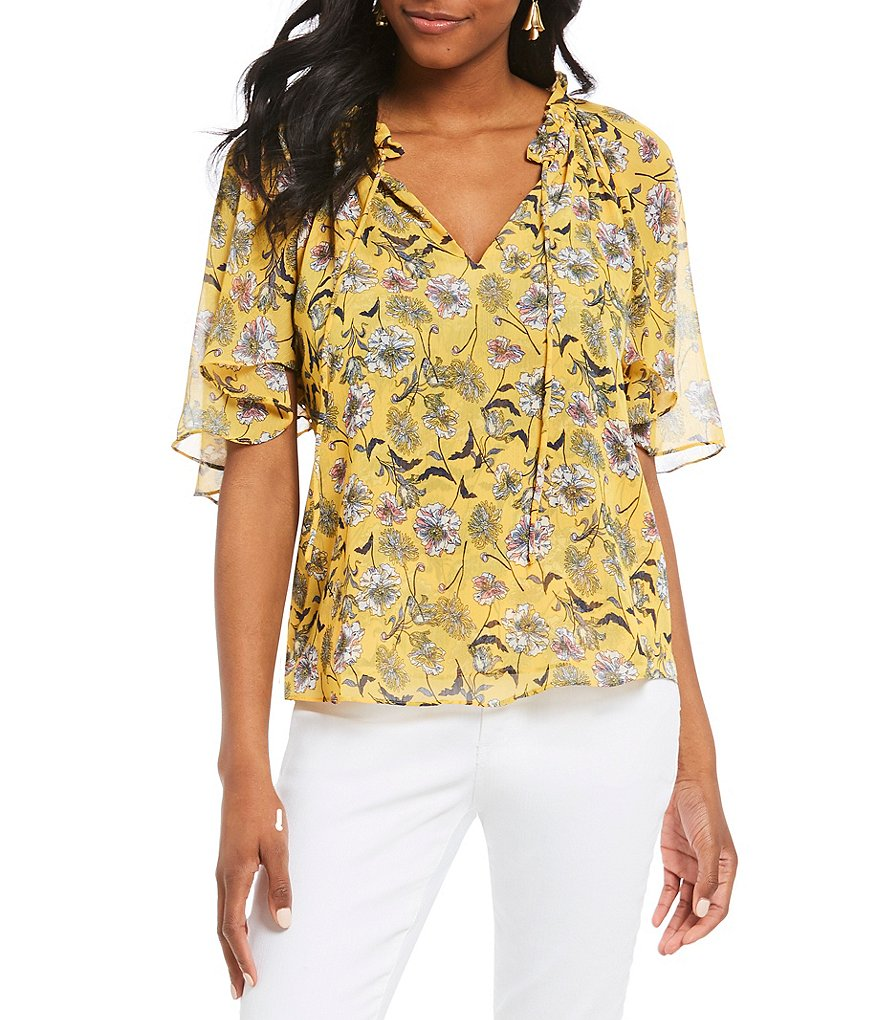 Gibson & Latimer Floral Print Blouse