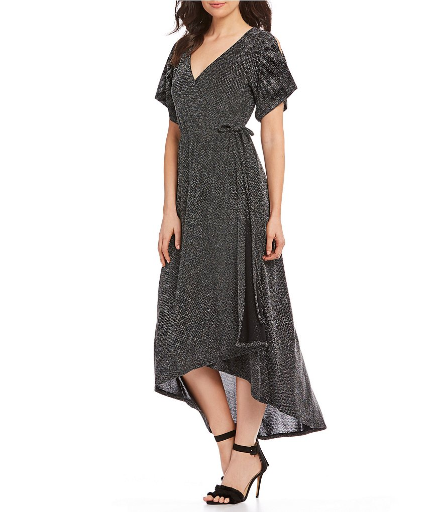 Gibson & Latimer Lurex Wrap Dress