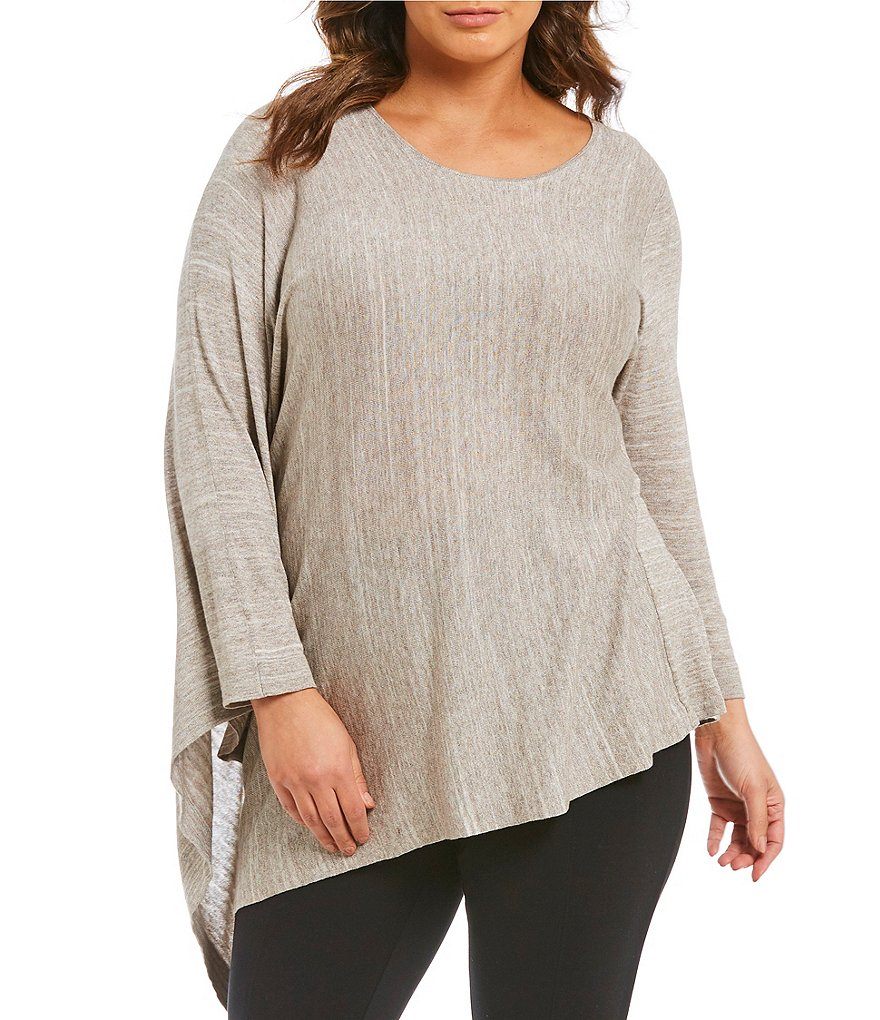Gibson & Latimer Plus Asymmetrical Sweater