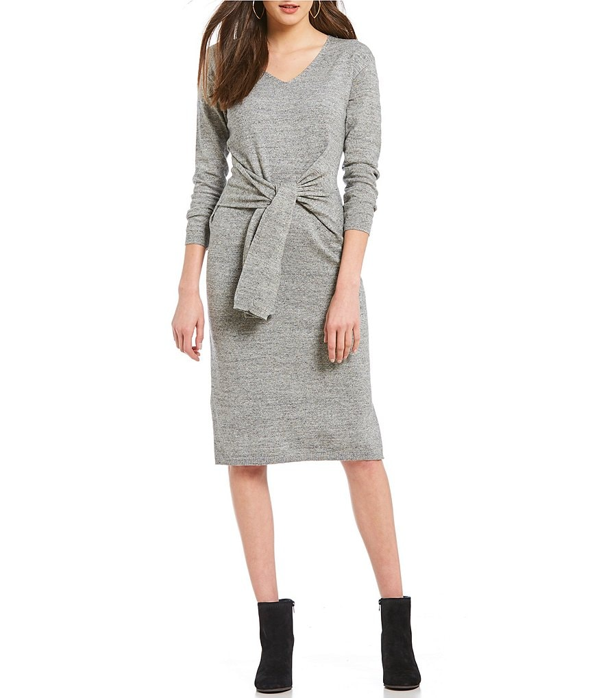 Gibson & Latimer Tie Waist Sweater Dress