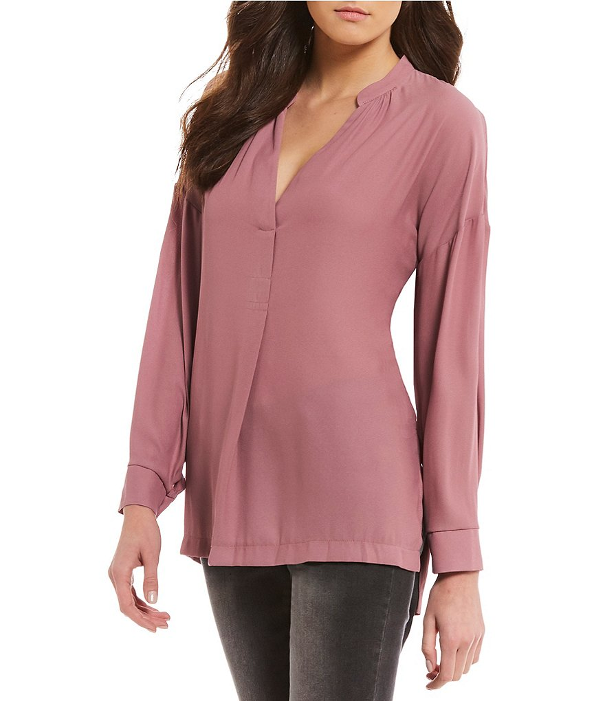 Gibson & Latimer V-Neck Blouse