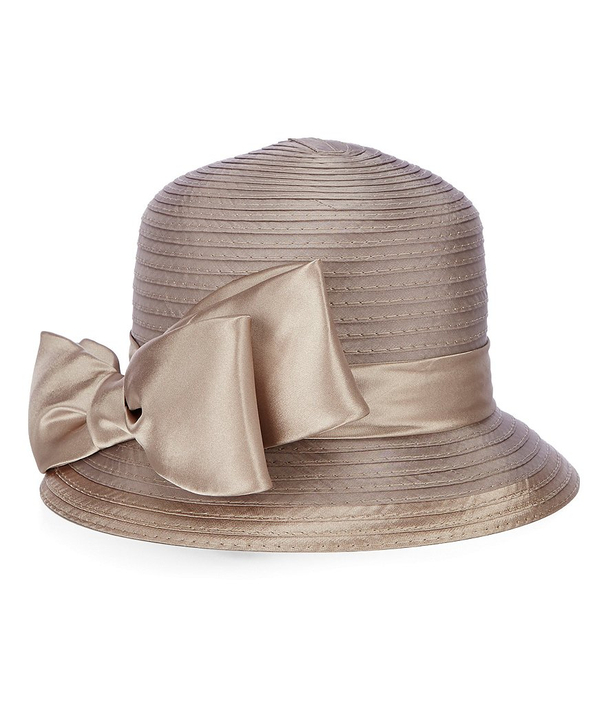 Giovannio Satin Ribbon Dress Cloche Hat