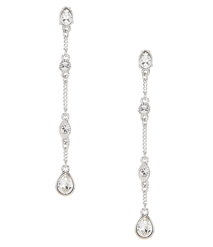 Givenchy Faux-Crystal Linear Drop Statement Earrings