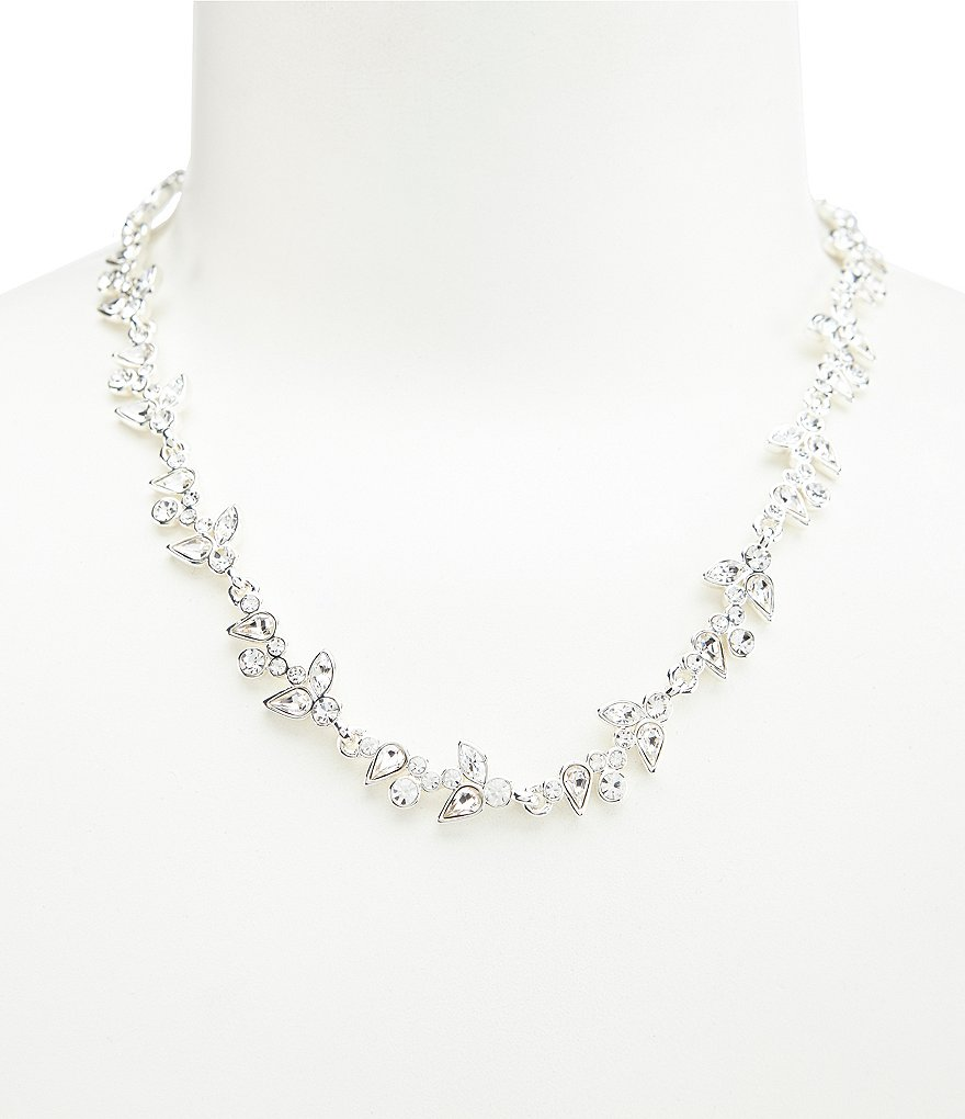 Givenchy Crystal Flower Collar Necklace