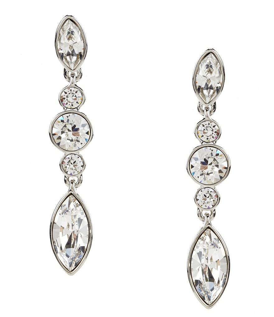 Givenchy Crystal Linear Statement Earrings