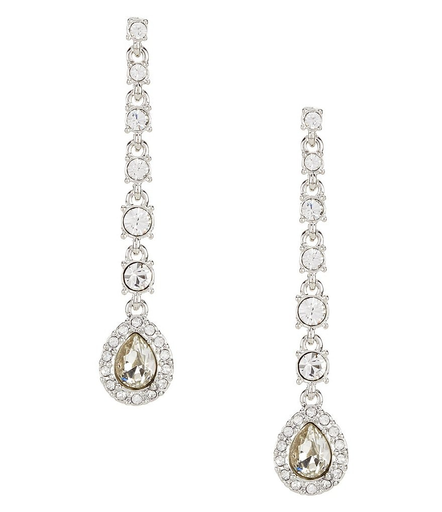 Givenchy Faux-Crystal Linear Drop Earrings