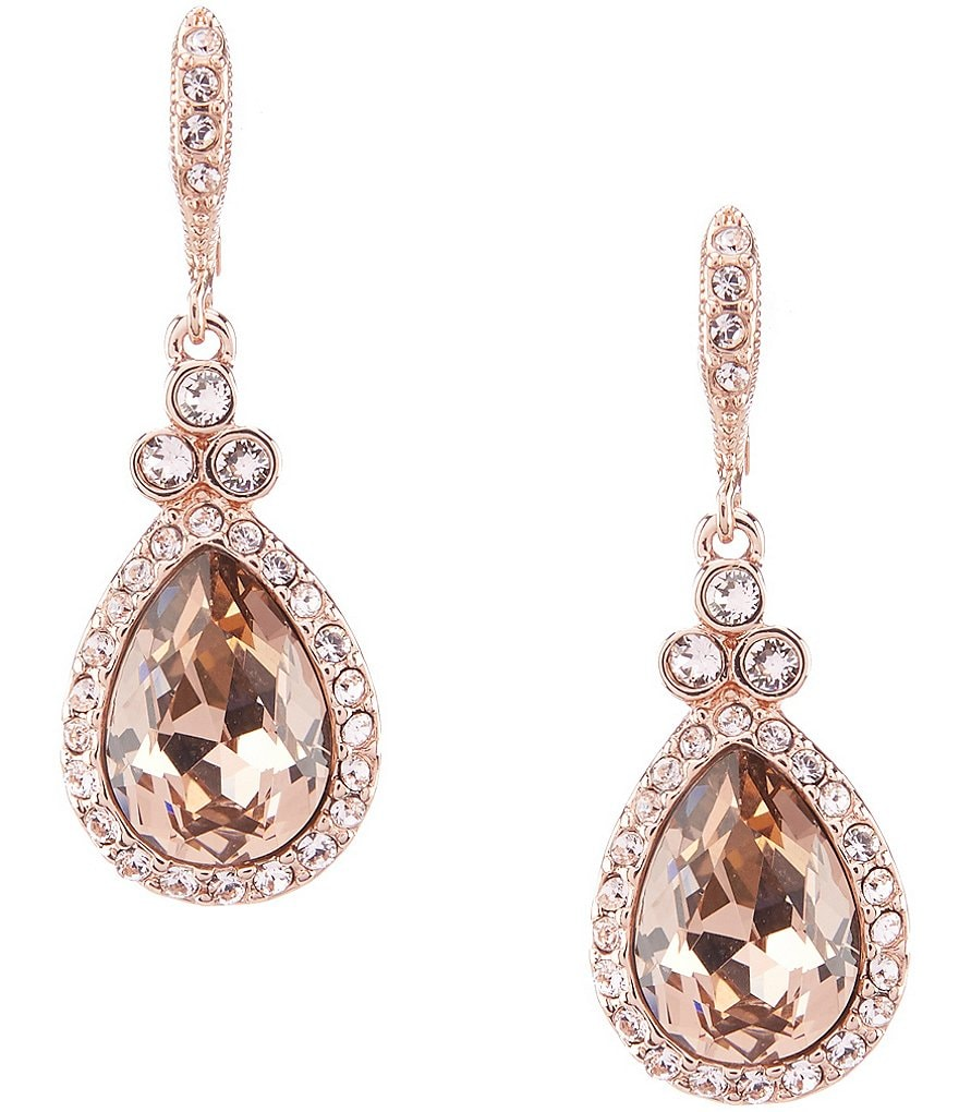 Givenchy Crystal Pavé Pear Drop Statement Earrings