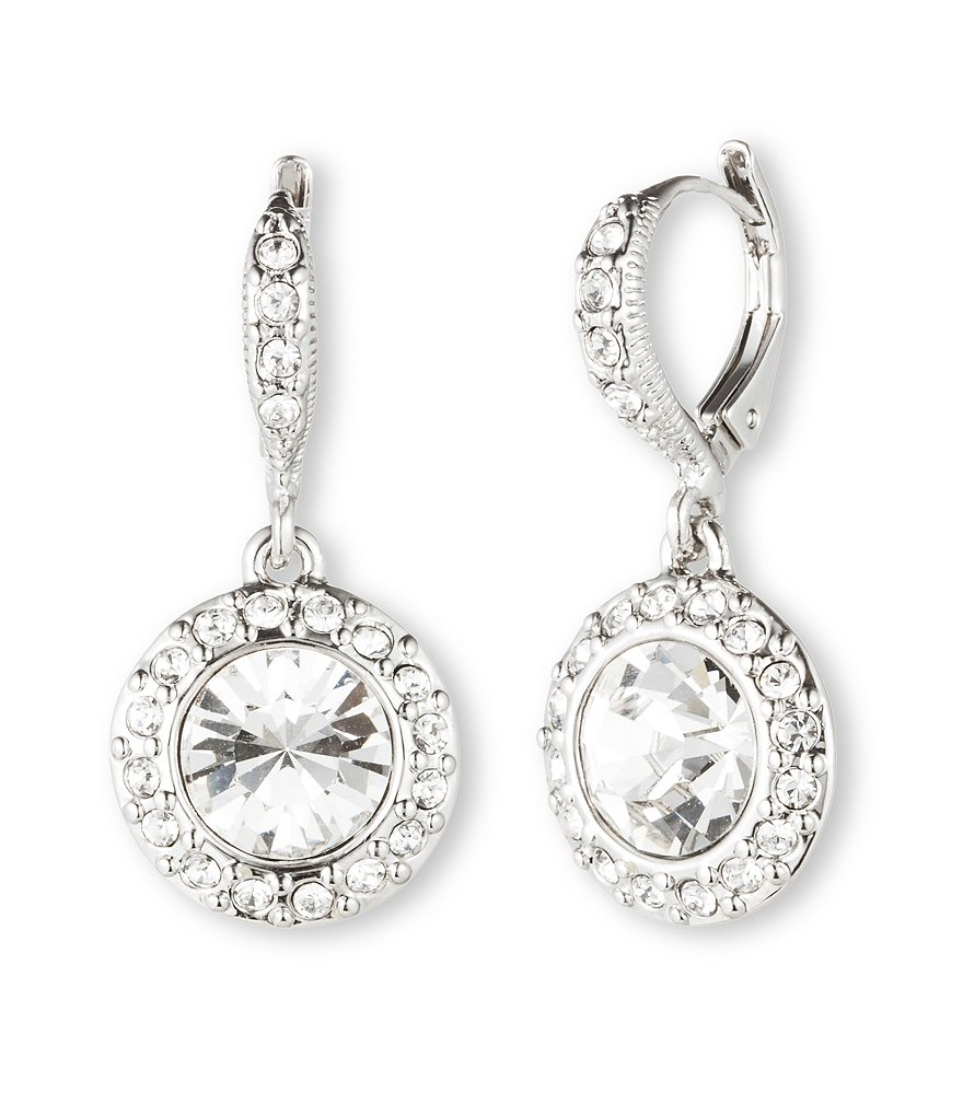 Givenchy Crystal Round Drop Earrings