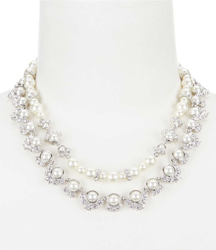 Givenchy Faux-Pearl Multi-Strand Collar Necklace