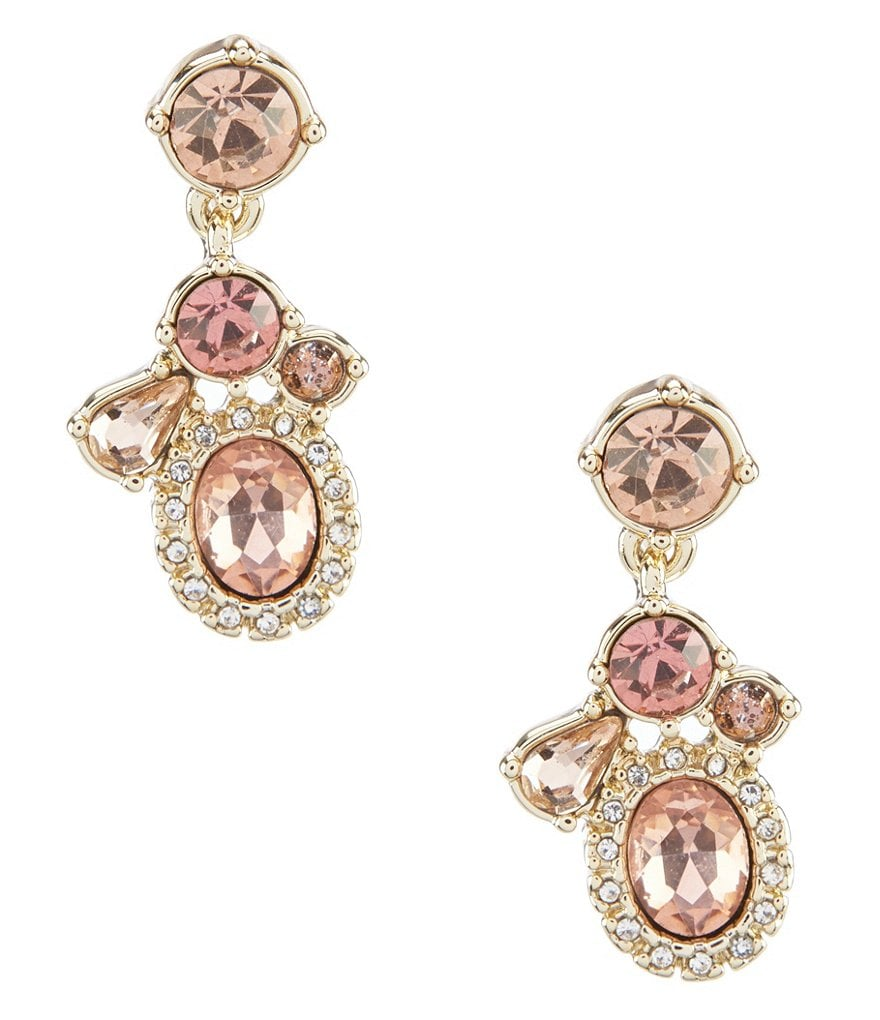 Givenchy Gold Stone Drop Statement Earrings