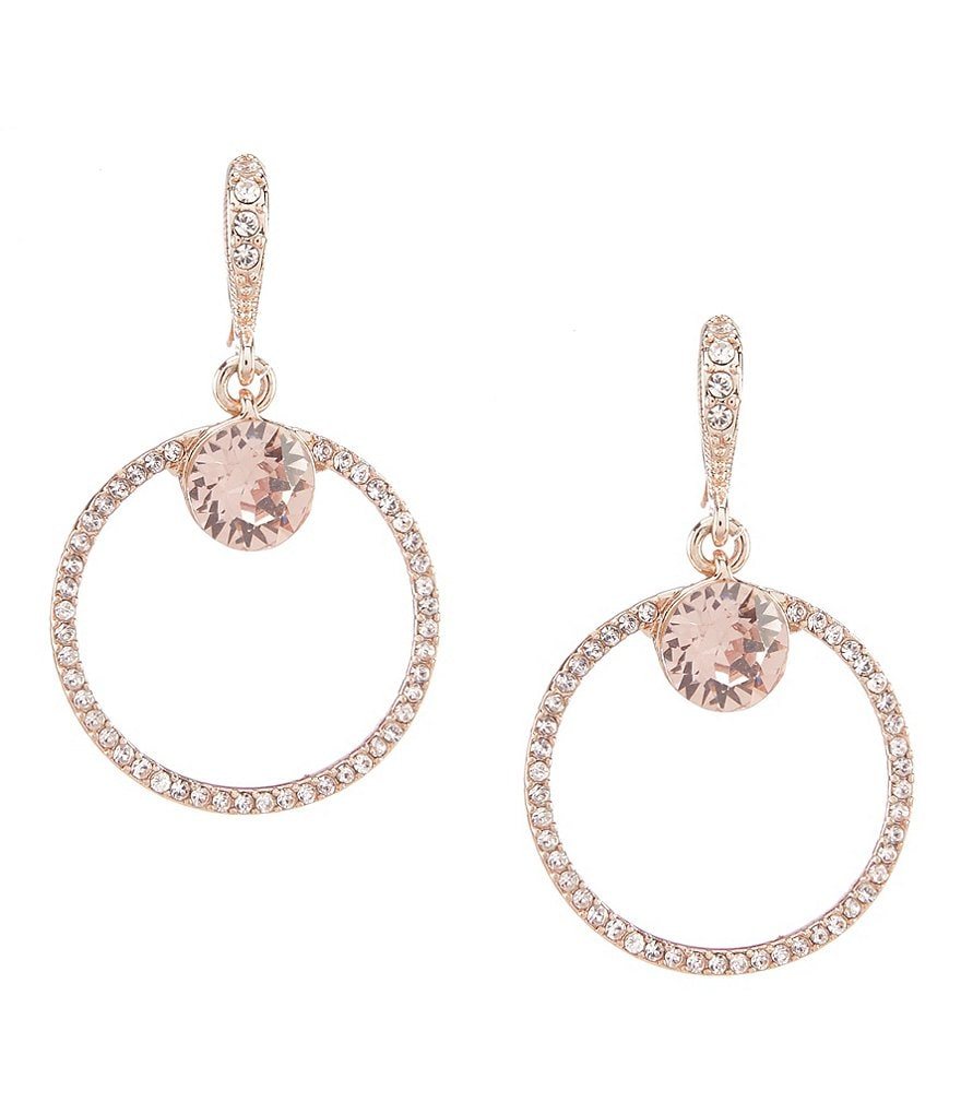Givenchy Pave Round Drop Earrings