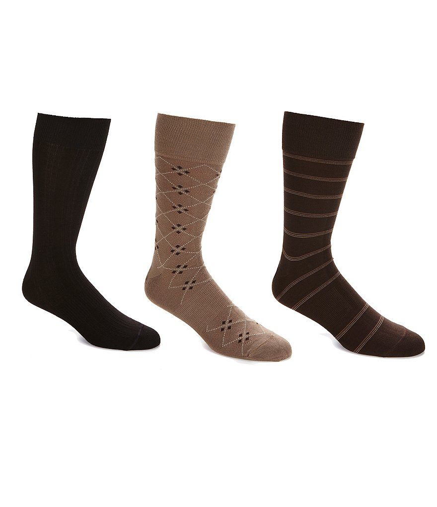 Gold Label Roundtree & Yorke Big & Tall Crew Socks 3-Pack