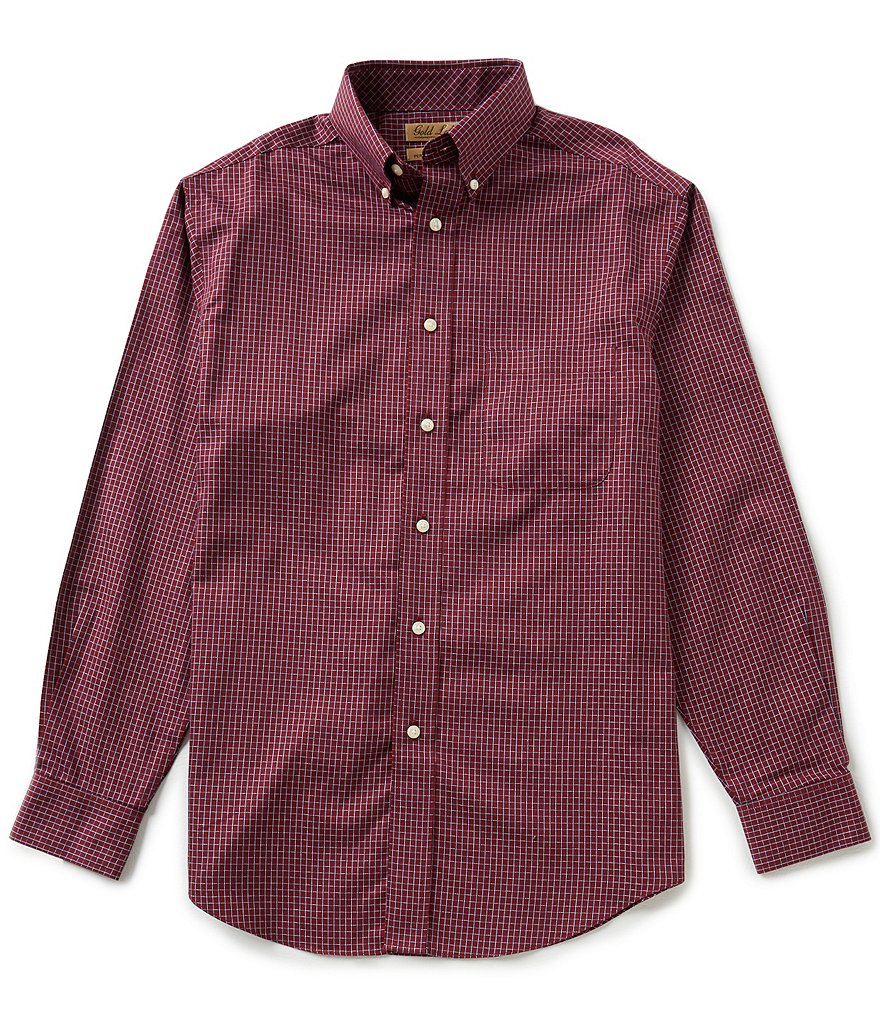 Gold Label Roundtree & Yorke Checked Non-Iron Dobby Perfect Performance Sportshirt