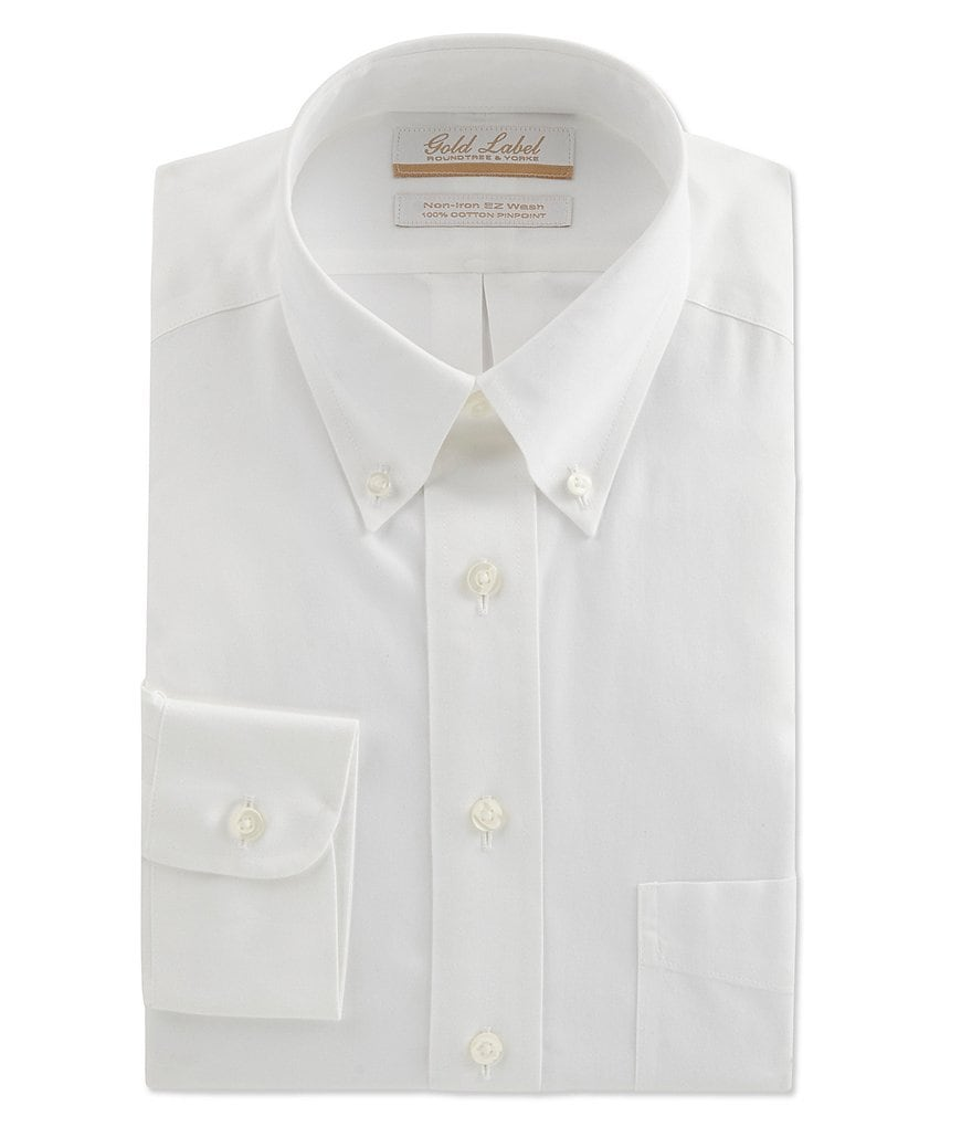 Gold Label Roundtree Yorke Non Iron Full Fit Button Down Collar