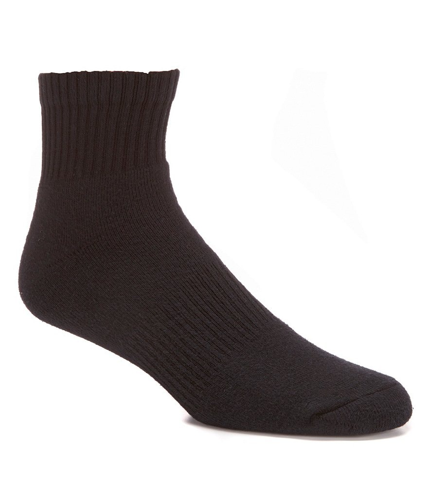 Gold Label Roundtree & Yorke Quarter Athletic Socks 6-Pack