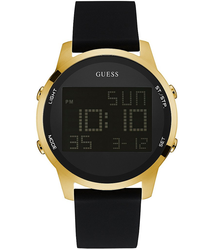 Guess Digital Chronograph Silicone Watch