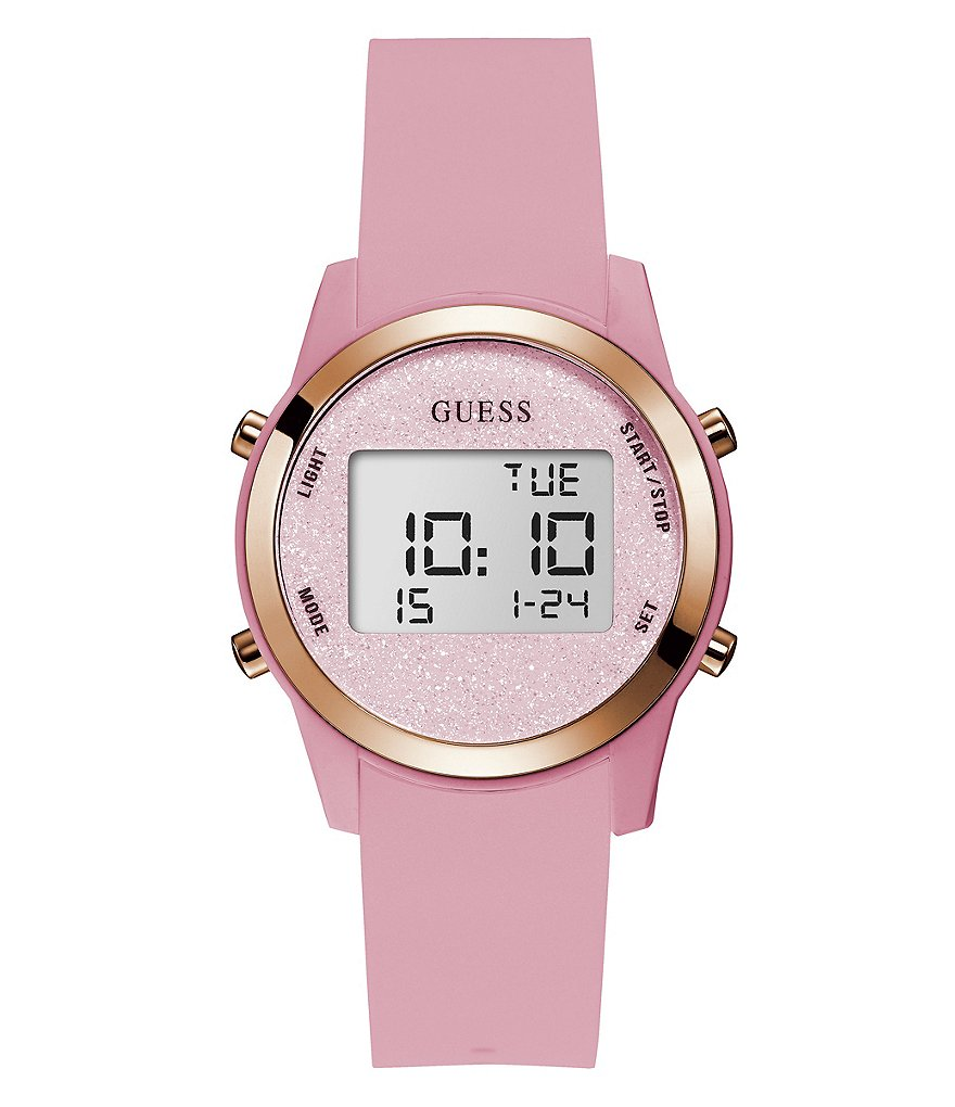 Guess Digital Silicone-Strap Watch