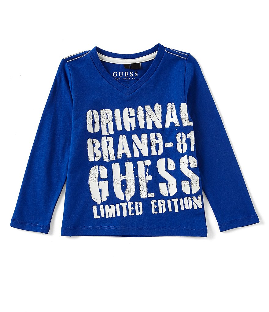 Guess Little Boys 2T-7 Branded Logo Tee
