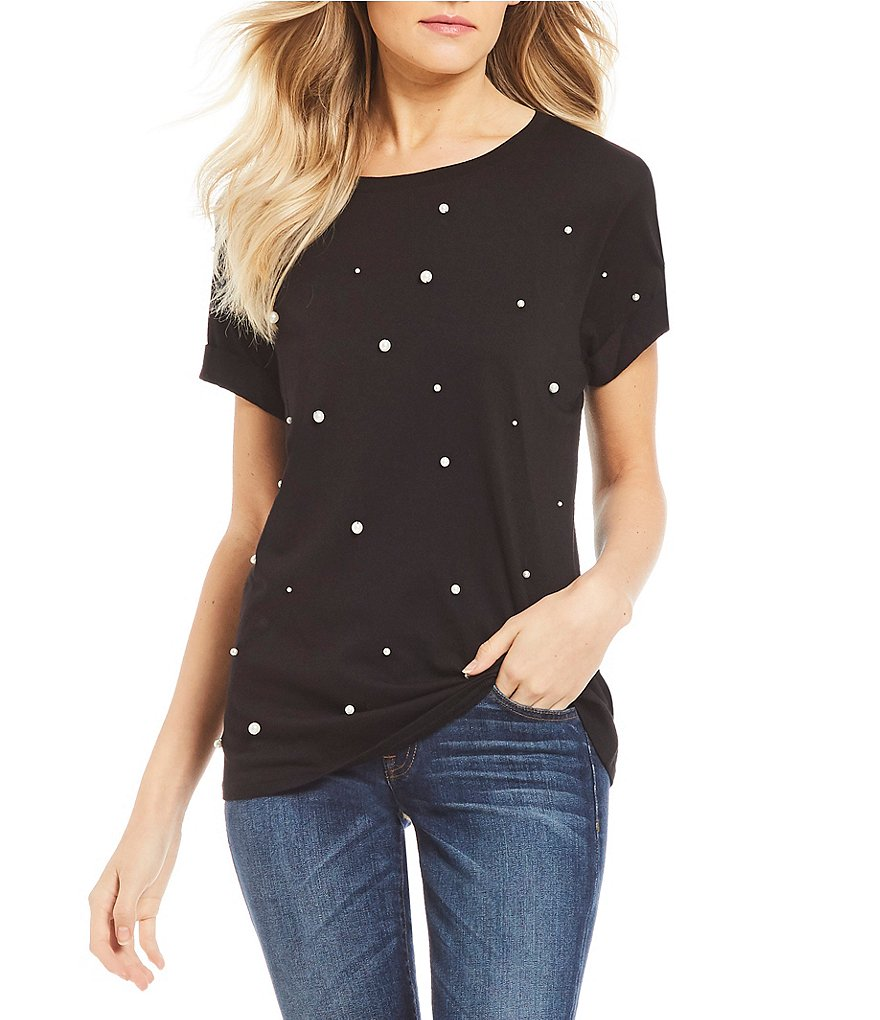 Guess Scattered Pearl Short Sleeve Tee