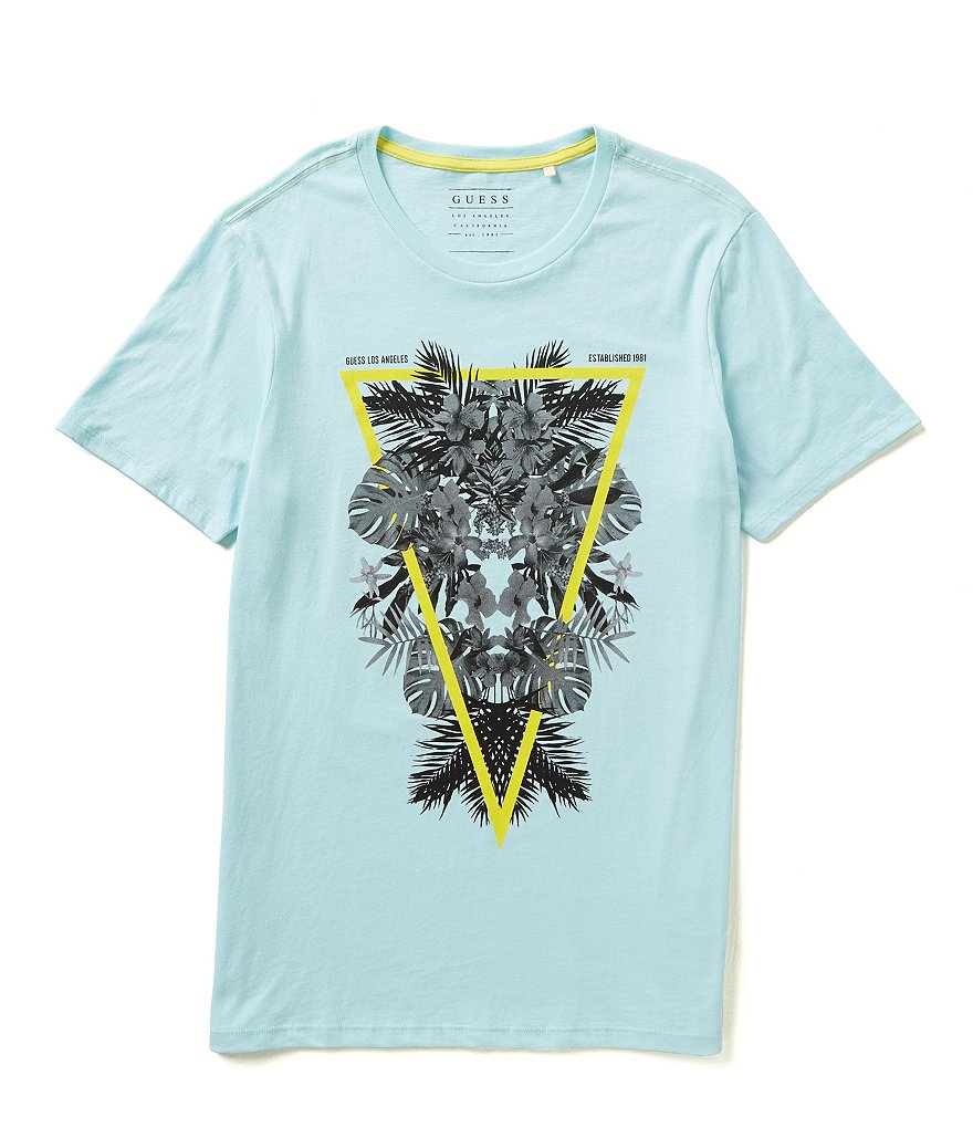 Guess Short-Sleeve Cali Leaves Graphic Tee