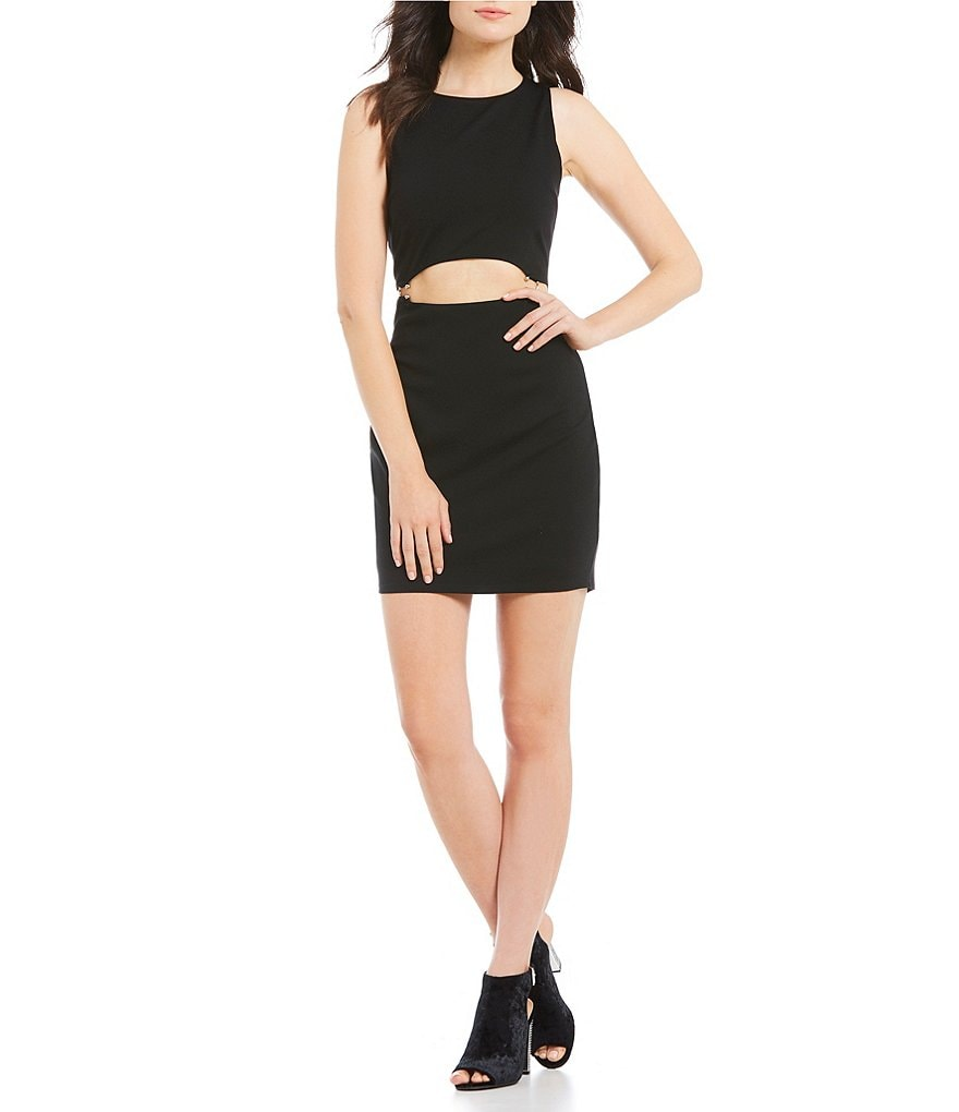 Guess Valeria O-Ring Cut Out Sheath Dress