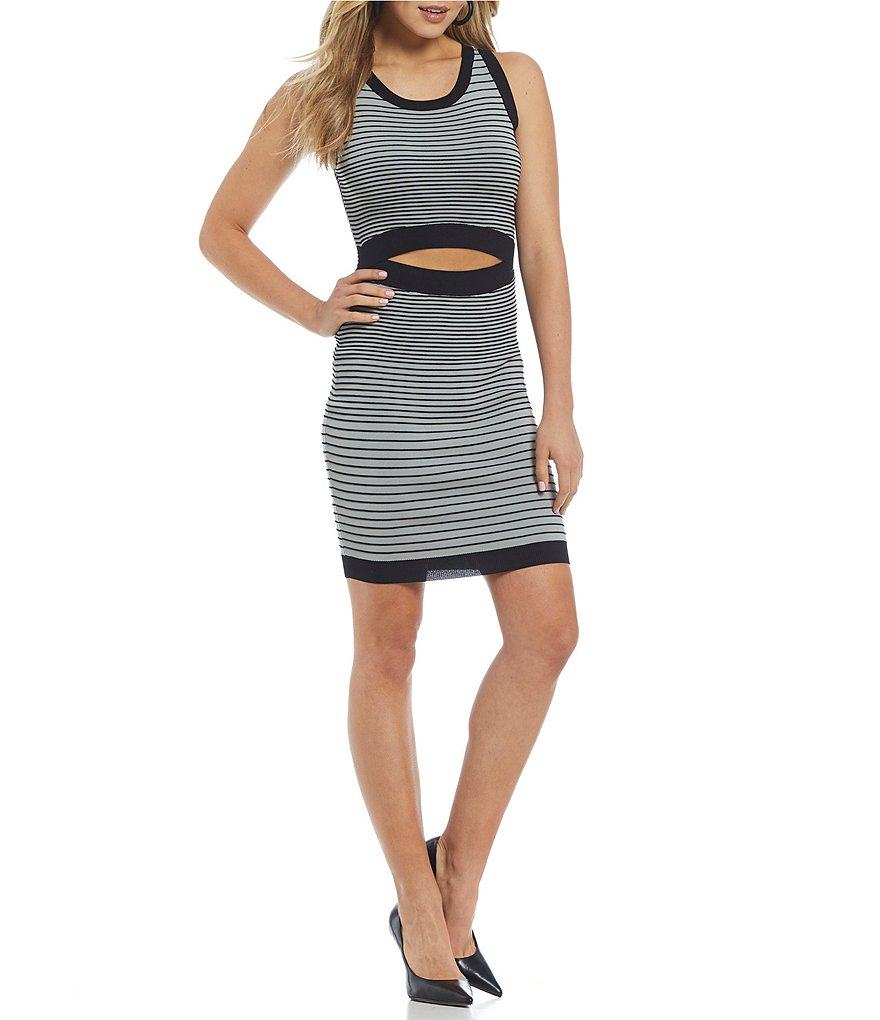 Guess Vivianne Striped Ottoman Sheath Dress