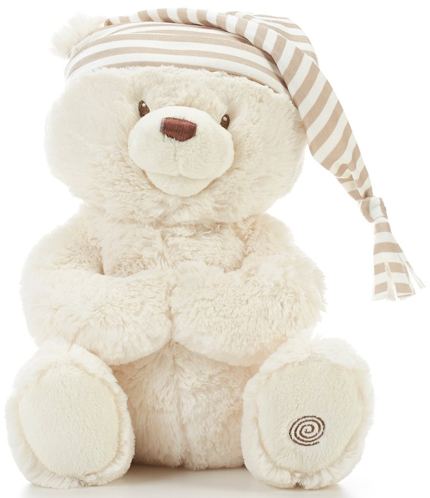Gund 15#double; Plush Animated Goodnight Prayer Bear