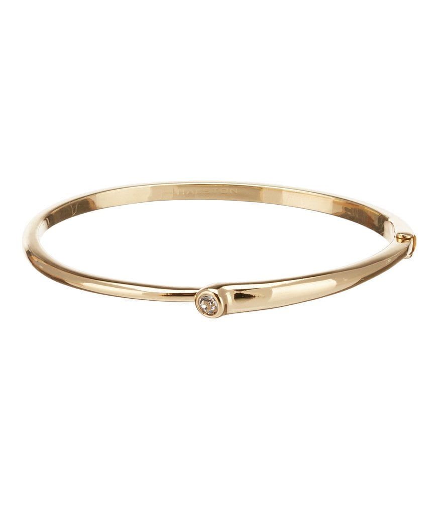 H Halston Bypass Snap Hinge Bangle Bracelet