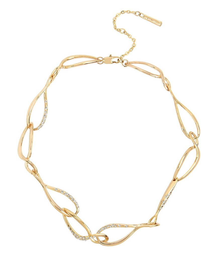 H Halston Faux-Crystal Link Collar Necklace