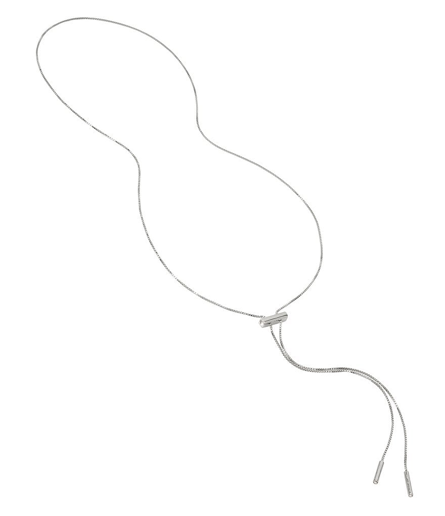 H Halston Lariat Slider Necklace