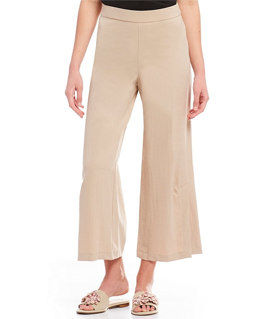 H Halston Relaxed Fit Side Slit Pant