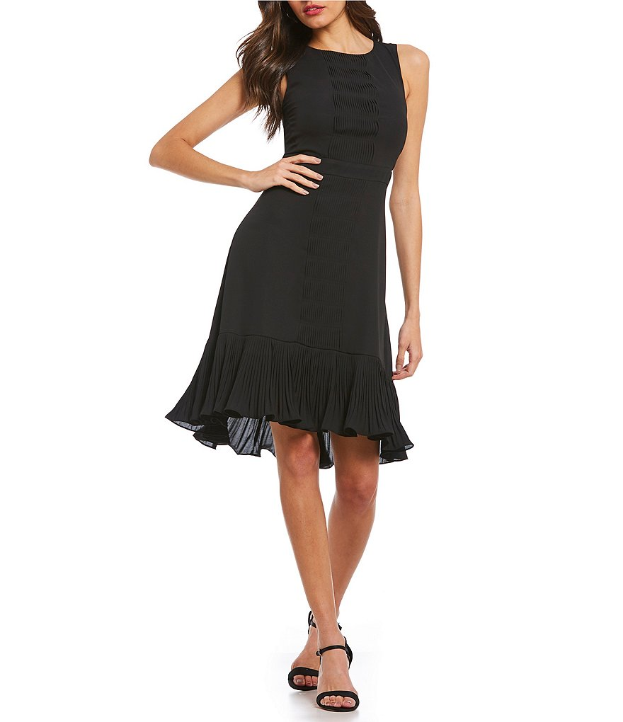 H Halston Sleeveless Fit & Flare Dress
