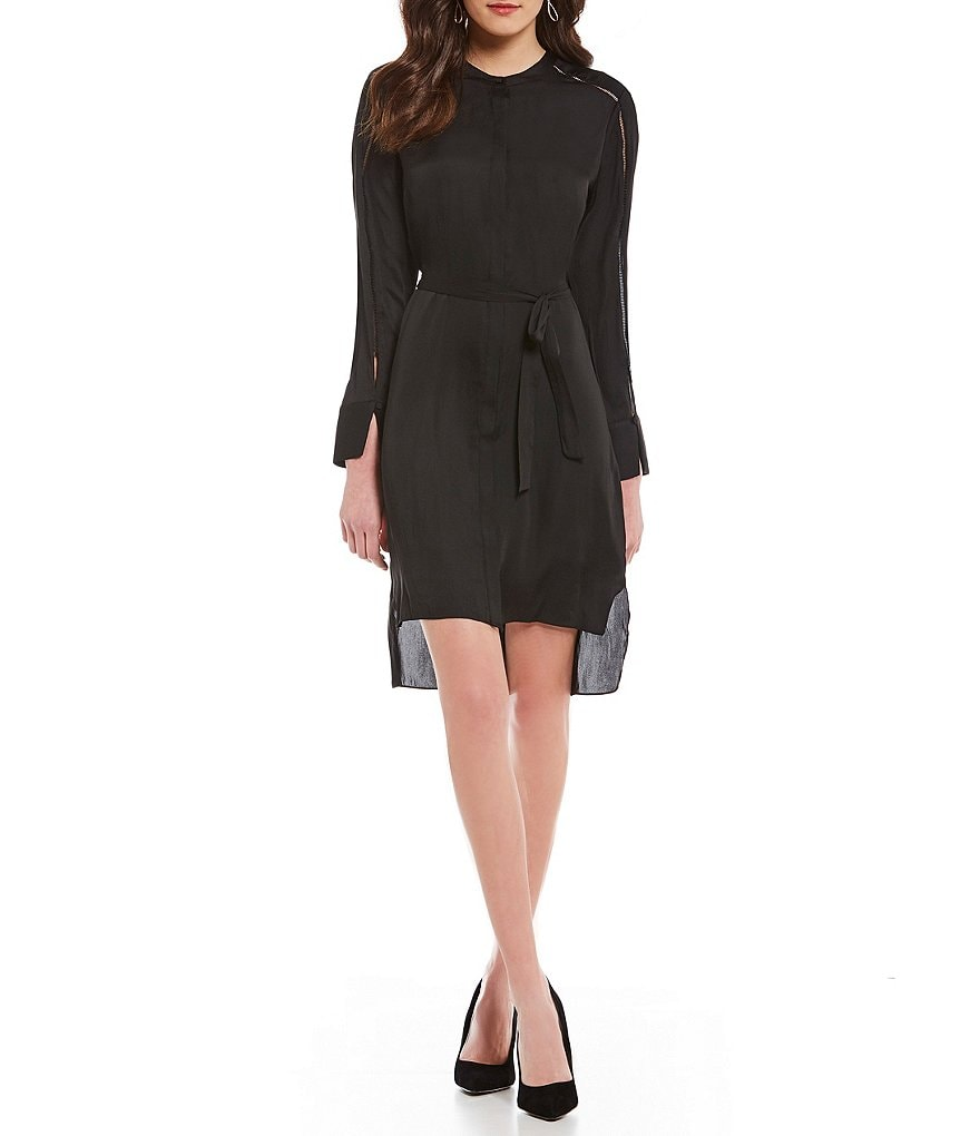 H Halston Split Cuff Shirt Dress