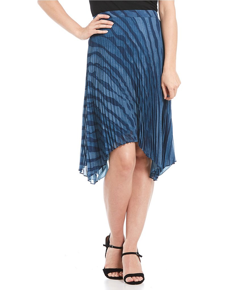 H Halston Sunray Pleated Skirt