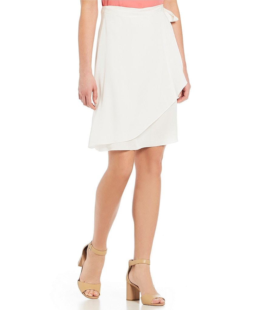 H Halston Wrap Skirt